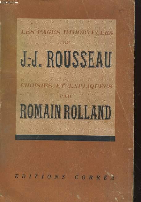 Les pages immortelles de J.J. ROUSSEAU