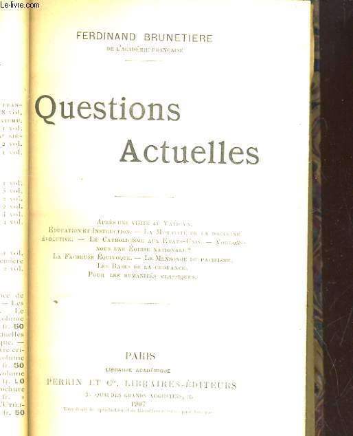 QUESTIONS ACTUELLES