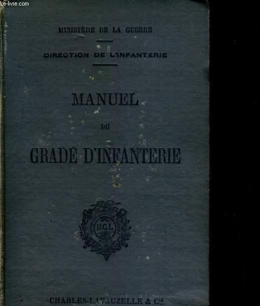 MANUEL DU GRADE D'INFANTERIE