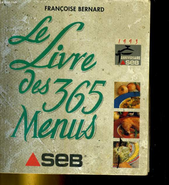 Le Livre des 365 menus.