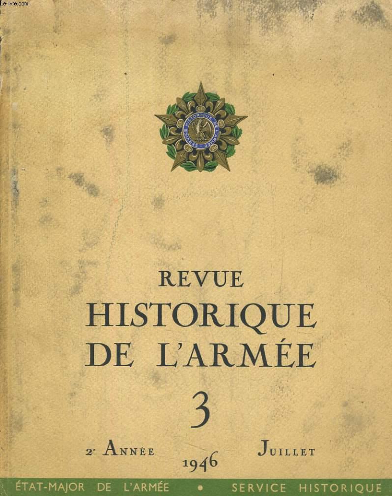 Revue Historique. 2ème année, TOME III : juillet 1946