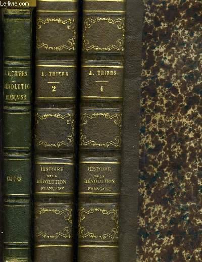 HISTOIRE DE LA REVOLUTION FRANCAIS EN 2 TOMES complets  + Tome de CARTES