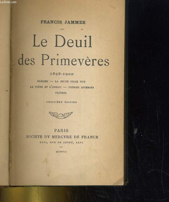 LE SEUIL DES PRIMEVERES 1898-1900