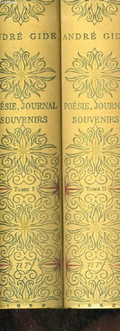 POESIE, JOURNAL, SOUVENIRS TOME 1 ET 2. TOME 1 LES CAHIERS D ANDRE WALTER LES POESIES D ANDRE WALT6ER LES NOURRITURES TERRESTRES LES NOUVELLES NOURRITURES SOUVENIRS DE LA COUR D ASSISE SI LE GRAIN NE MEURT JOURNAL (1889à1916) TOME 2 JOURNAL 51917 à 1949).