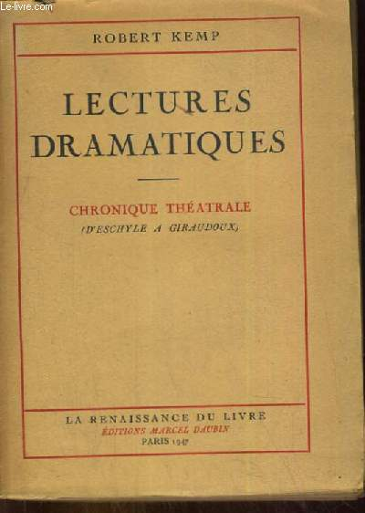 LECTURES DRAMATIQUES - CHRONIQUES THEATRALE