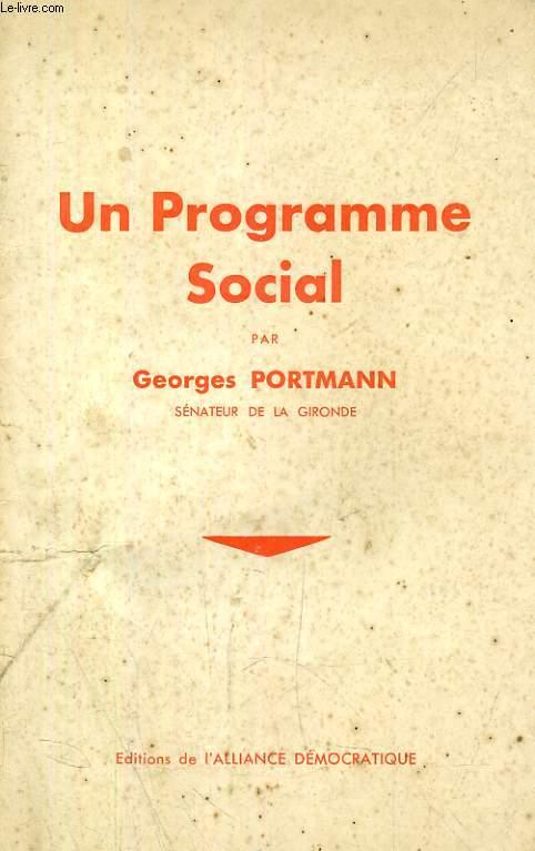 UN PROGRAMME SOCIAL