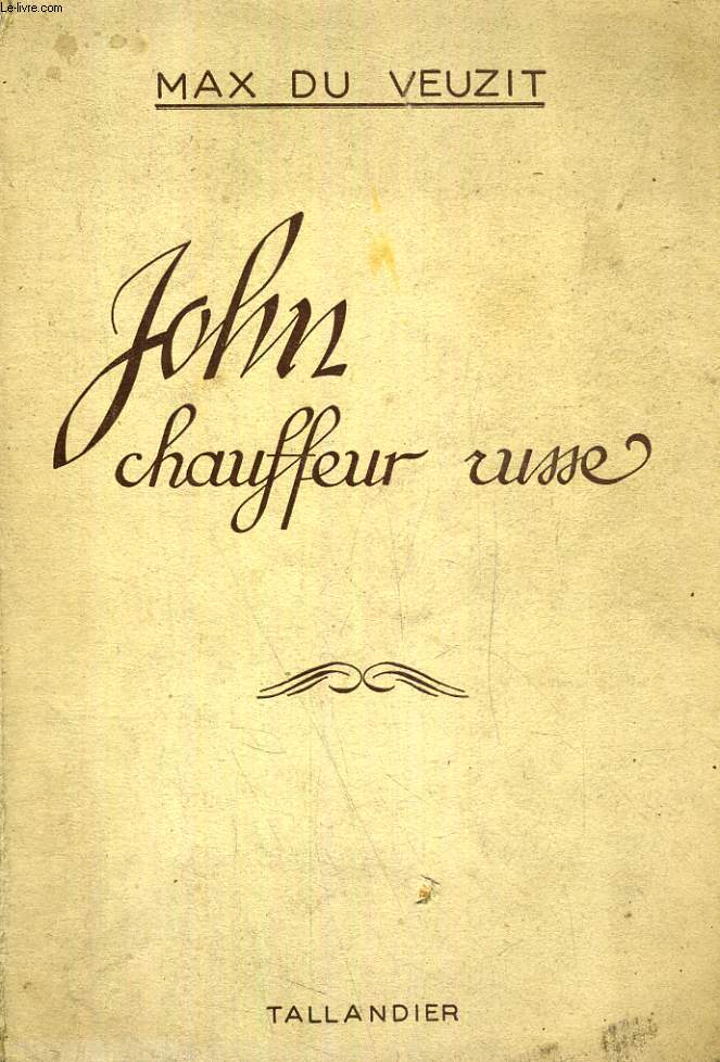 JOHN CHAUFFEUR RUSSE
