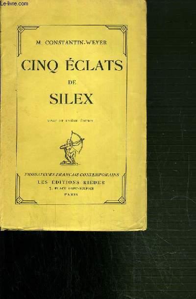 CINQ ECLATS DE SILEX.