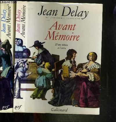 AVANT MEMOIRE  - D'UNE MINUTE A L'AUTRE TOME 1 ET2.