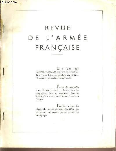 REVUE DE L'ARMEE FRANCAISE.