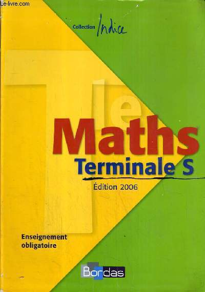 MATHS - COLLECTION INDICE - TERMINALE S.
