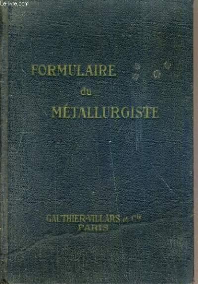 FORMULAIRE  DU METALLURGISTE TRICOT.