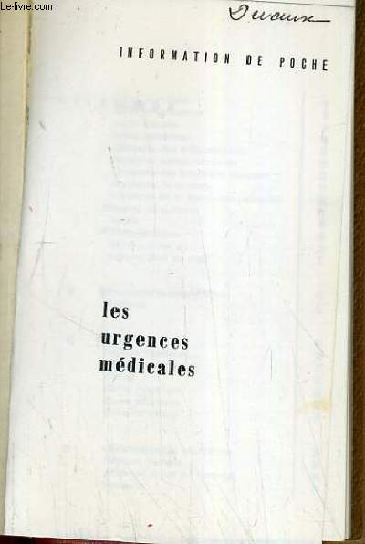 LES URGENCES MEDICALES