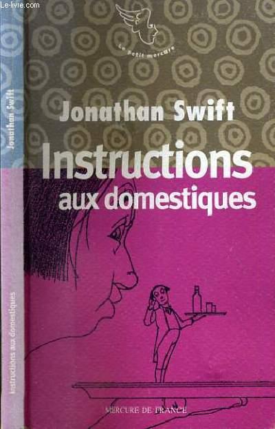 INSTRUCTIONS AUX DOMESTIQUES / COLLECTION LE PETIT MERCURE.