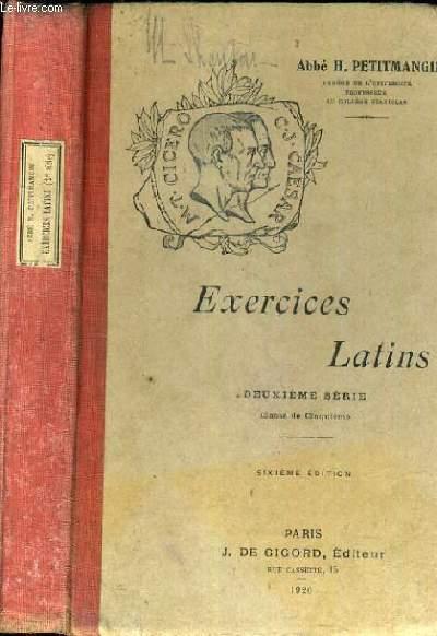 EXERCICES LATINS - DEUXIEME SERIE - CLASSE DE 5ème / Texte exclusivement en latin.