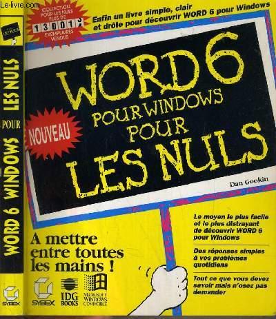 WORD 6 POUR WINDOWS POUR LES NULS.