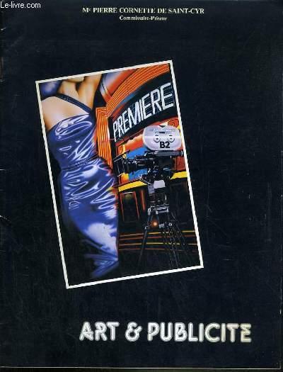 CATALOGUE DE VENTE AUX ENCHERES - HOTEL DROUOT - ART ET PUBLICITE  - SALLE 9 - 17 OCTOBRE 1984.