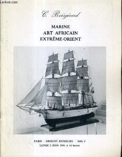 CATALOGUE DE VENTE AUX ENCHERES - DROUOT RICHELIEU - MARINE - ART AFRICAIN - EXTREME-ORIENT - SALLE 2 - 3 JUIN 1991.