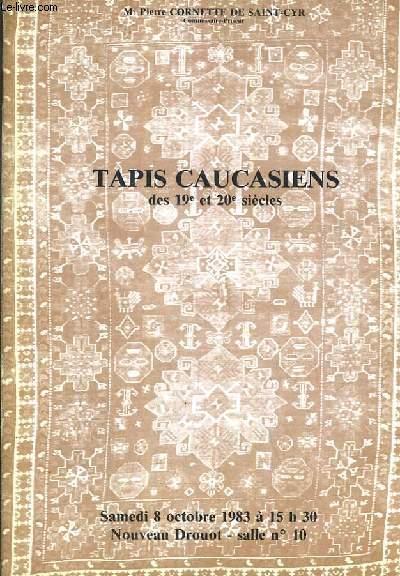 CATALOGUE DE VENTE AUX ENCHERES - NOUVEAU DROUOT - TAPIS CAUCASIENS DES 19e et 20e SIECLES - SALLE 10 - 8 OCTOBRE 1983.