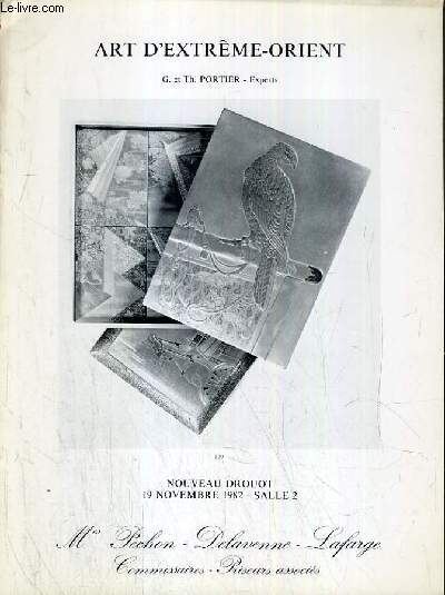 CATALOGUE DE VENTE AU ENCHERE - NOUVEAU DROUOT - ART D'EXTREME-ORIENT-  SALLE 2 - 19 NOVEMBRE 1982.