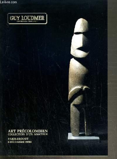 CATALOGUE DE VENTE AUX ENCHERES - HOTEL DROUOT - ART PRECOLOMBIEN - COLLECTION D'UN AMATEUR - 8 DECEMBRE 1990.