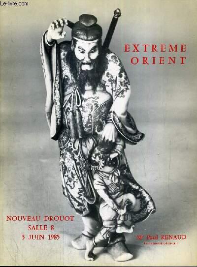 CATALOGUE DE VENTE AUX ENCHERES - NOUVEAU DROUOT -  EXTREME-ORIENT - SALLE 8 - 5 JUIN 1985.