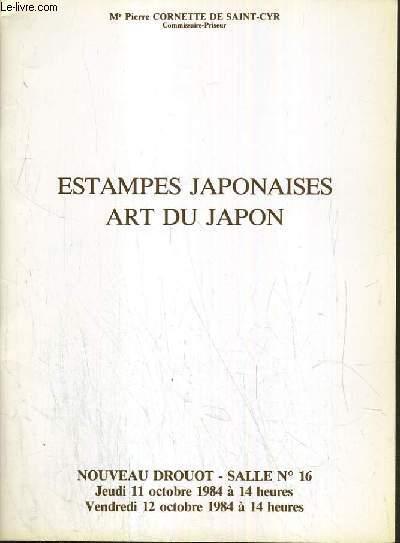 CATALOGUE DE VENTE AUX ENCHERES - NOUVEAU DROUOT - ESTAMPES JAPONAISE - ART DU JAPON - SALLE 16 - 11 et 12 OCTOBRE 1984.