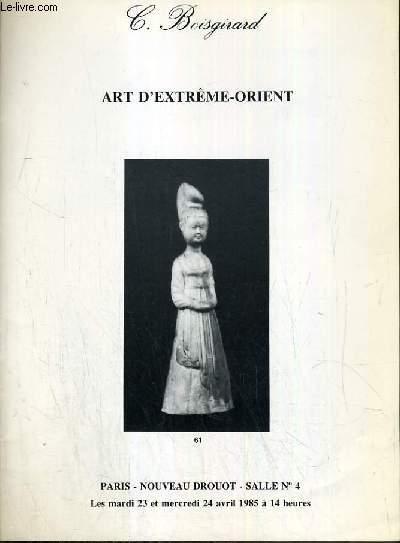 CATALOGUE DE VENTE AUX ENCHERES - NOUVEAU DROUOT - ART D'EXTREME-ORIENT -  SALLE 4 - 23 et 24 avril 1985.