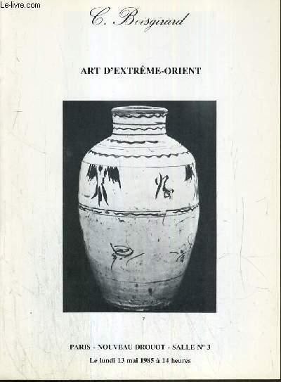 CATALOGUE DE VENTE AUX ENCHERES - NOUVEAU DROUOT - ART D'EXTREME-ORIENT -  SALLE 3 - 13 MAI 1985.