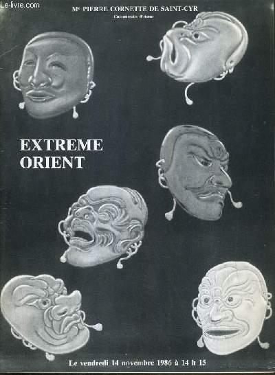 CATALOGUE DE VENTE AUX ENCHERES - NOUVEAU DROUOT - EXTREME-ORIENT - SALLE 13 - 14 NOVEMBRE 1986.