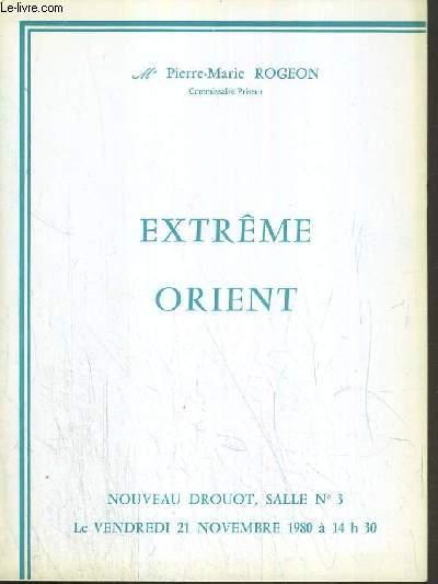 CATALOGUE DE VENTE AUX ENCHERES - NOUVEAU DROUOT - EXTREME-ORIENT - SALLE 3 - 21 NOVEMBRE 1980.