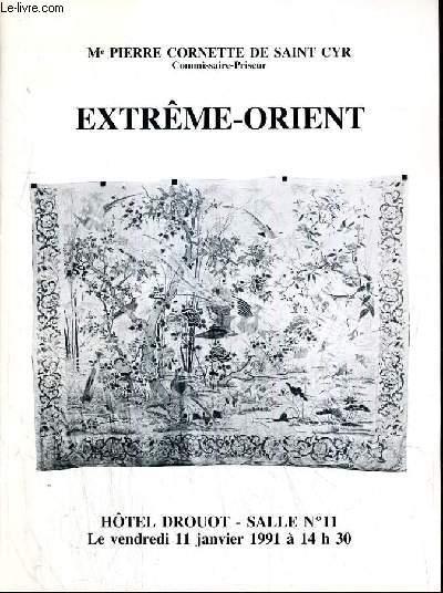 CATALOGUE DE VENTE AUX ENCHERES - HOTEL DROUOT -  EXTREME-ORIENT - IVOIRES DU XIXe SIECLE ET MODERNES - SALLE 11 - 11 JANVIER 1991.