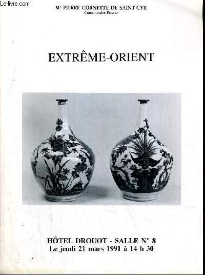 CATALOGUE DE VENTE AUX ENCHERES - HOTEL DROUOT -  EXTREME-ORIENT - IVOIRES DU XXe SIECLE ET MODERNE - SALLE 8 - 21 MARS 1991.