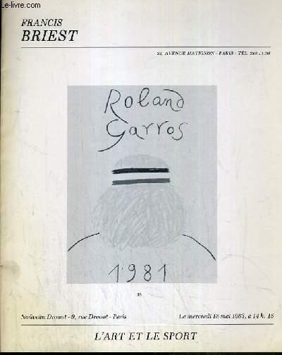 CATALOGUE DE VENTE AUX ENCHERES - NOUVEAU DROUOT - L'ART ET LE SPORT - SALLE 9 - 18 MAI 1983.