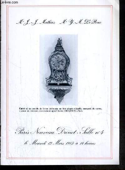 CATALOGUE DE VENTE AUX ENCHERES - NOUVEAU DROUOT - TABLEAUX ET DESSIN ANCIENS ET MODERNES - CHOPES DE BIERES - SALLE 4 - 13 MARS 1985.