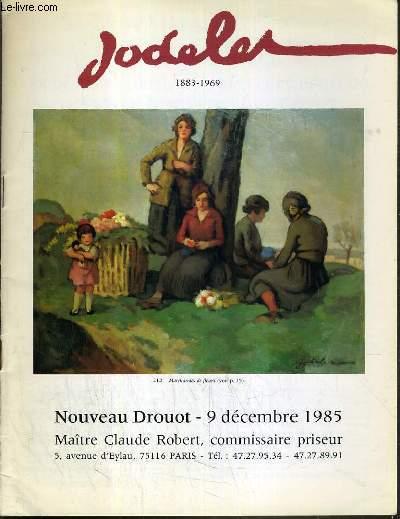 CATALOGUE DE VENTE AUX ENCHERES - NOUVEAU DROUOT - EMMANUEL JODELET (1883-1969) - SALLE 14 - 9 DECEMBRE 1985.