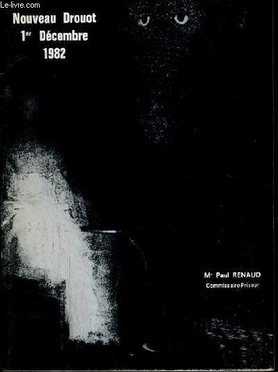 CATALOGUE DE VENTE AUX ENCHERES - NOUVEAU DROUOT - ESTAMPES ANCIENNES ET MODERNES - SALLE 7 - 1er DECEMBRE 1982.