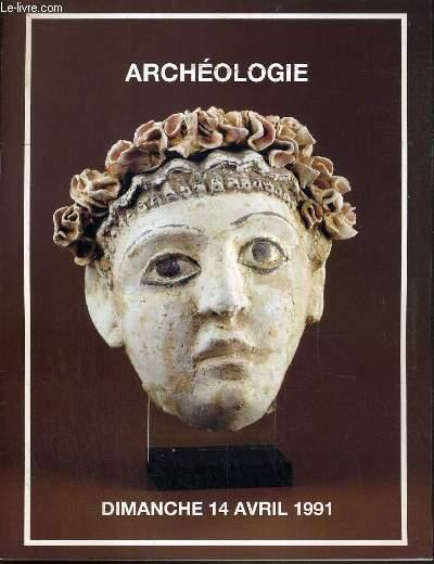 CATALOGUE DE VENTE AUX ENCHERES - DROUOT RICHELIEU - ARCHEOLOGIE - EGYPTE, GRECE, ROME, GAULE, PHENICIE - 14 AVRIL 1991.