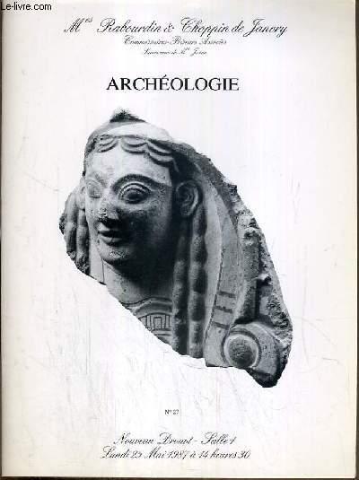 CATALOGUE DE VENTE AUX ENCHERES - NOUVEAU DROUOT - ARCHEOLOGIE - VERRES DE FOUILLE - TERRES CUITES GRECQUES - ETRUSQUES ET EGYPTIENNES - CERAMIQUES EGYPTIENNES ET CHYPRIOTES - SALLE 1 - 25 MAI 1987.