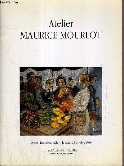 CATALOGUE DE VENTE AUX ENCHERES - DROUOT RICHELIEU - ATELIER MAURICE MOURLOT 1906-1983 - LITHOGRAPHIES - DESSINS - HUILES - ANIMAUX - SCENES DE FERMES ETC... - SALLE 3 - 23 OCTOBRE 1989.