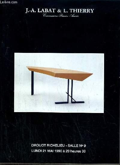 CATALOGUE DE VENTE AUX ENCHERES - DROUOT RICHELIEU - MOBILIER 1950 ET CONTEMPORAIN - SALLE 9 - 21 MAI 1990.