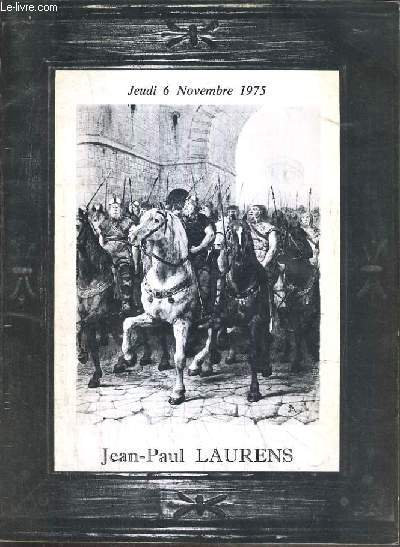 CATALOGUE DE VENTE AUX ENCHERES - HOTEL DROUOT - 42 DESSINS PAR JEAN-PAUL LAURENS - 6 NOVEMBRE 1975.