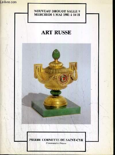 CATALOGUE DE VENTE AUX ENCHERES - NOUVEAU DROUOT - ART RUSSE - SALLE 9 - 6 MAI 1981.
