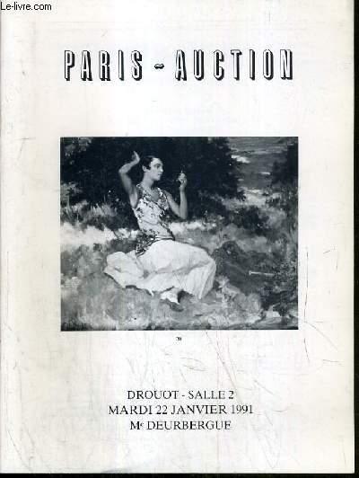 CATALOGUE DE VENTE AUX ENCHERES -  DROUOT - TABLEAUX XIXe et MODERNES - PEINTURES ET SCULPTURES CONTEMPORAINES - SALLE 2 - 22 JANVIER 1991.