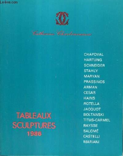 CATALOGUE DE VENTE AUX ENCHERES - DROUOT - TABLEAUX SCULPTURES 1986 - SALLES 5 et 6 - 12 OCTOBRE 1986.
