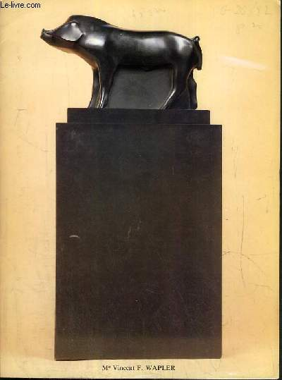 CATALOGUE DE VENTE AUX ENCHERES - NOUVEAU DROUOT - SCULPTURES - GOUACHES - TABLEAUX - SALLE 7 - 16 JUIN 1982.