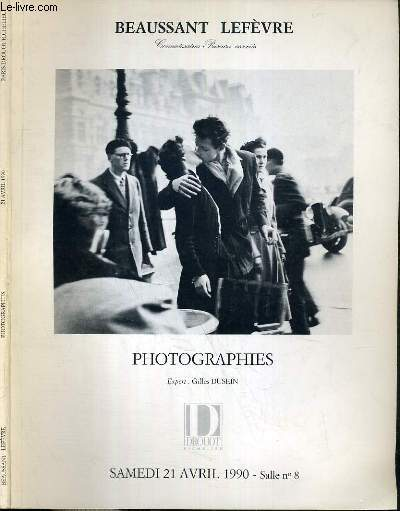 CATALOGUE DE VENTE AUX ENCHERES - DROUOT RICHELIEU - PHOTOGRAPHIES - SALLE 8 - 21 AVRIL 1990.