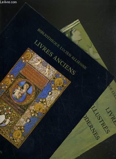 LOT DE 2 CATALOGUES DE VENTE AUX ENCHERES - HOTEL DROUOT - LIVRES ANCIENS - BIBLIOTHEQUE LUCIEN ALLIENNE - 15 NOVEMBRE 1985 - 5 MARS 1986.