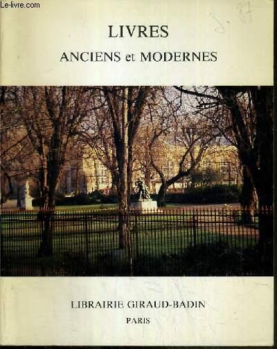 CATALOGUE - LIVRES ANCIENS ET MODERNES - LITTERATURE - MEDECINE - BIBLIOGRAPHIE.