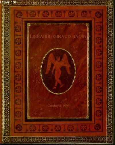 CATALOGUE - LIVRES ANCIENS ET MODERNES - LITTERATURE - VOYAGES - EDITIONS ORIGINALES MODERNES.